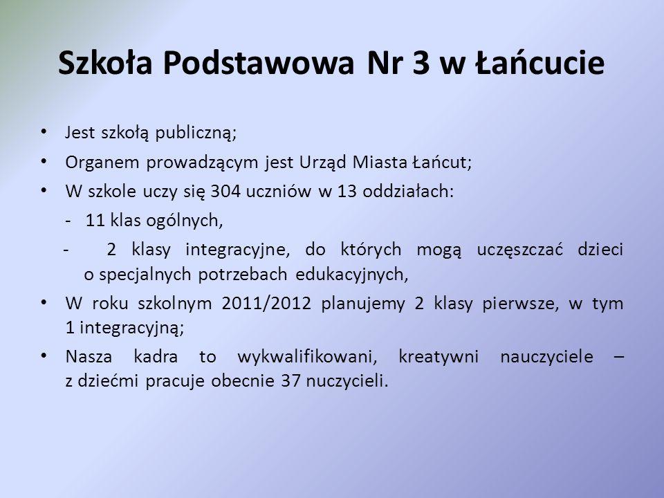 Szkoła Podstawowa Nr 3 ul. 29 Listopada 21 37 – 100 Łańcut