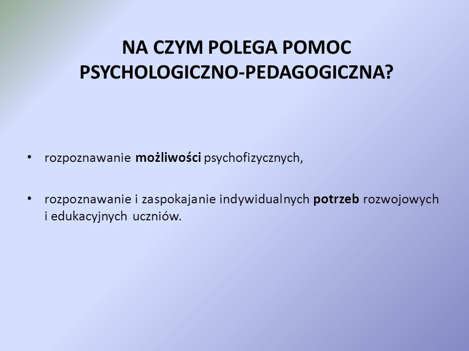 Udzielenie Pomocy psychologiczno – pedagogicznej w świetle nowego rozporządzenia MEN