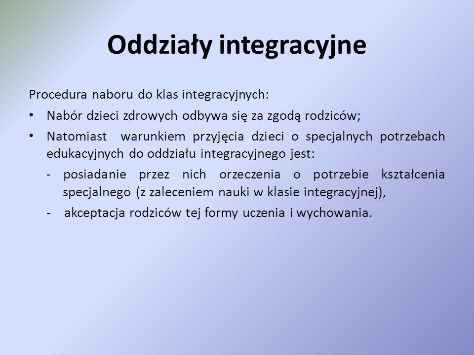 Oddziały integracyjne