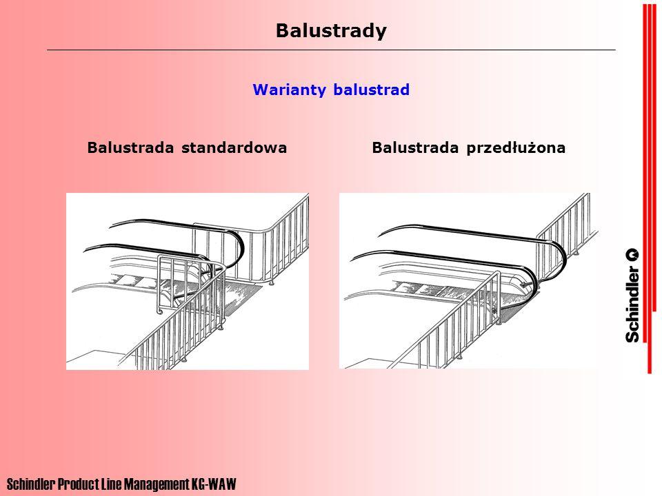 Balustrada standardowa Balustrada przedłużona