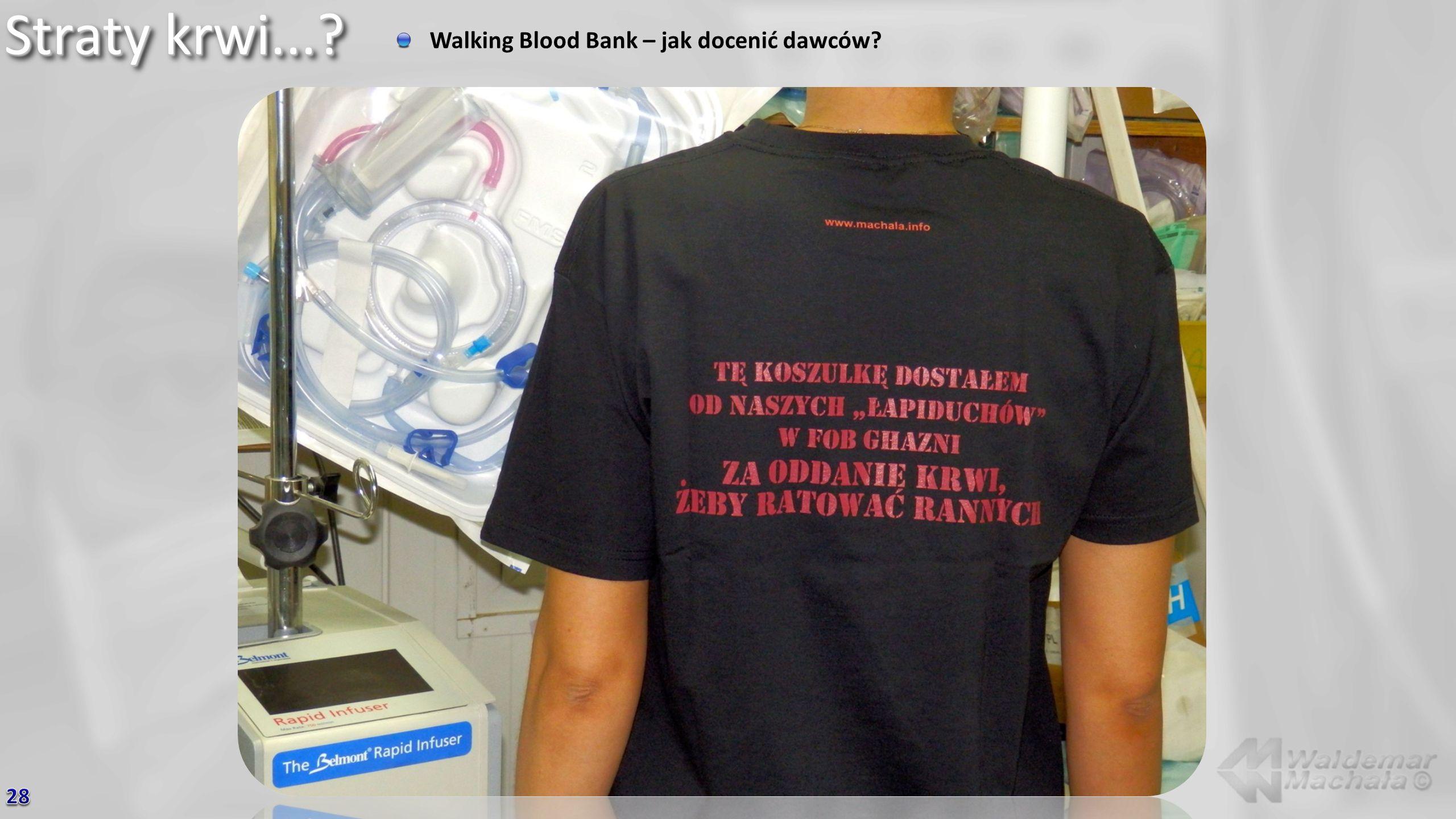 Straty krwi... Walking Blood Bank – jak docenić dawców 28