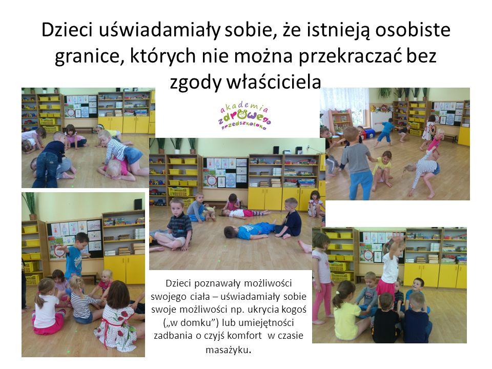 Dzieci uświadamiały sobie, że istnieją osobiste granice, których nie można przekraczać bez zgody właściciela