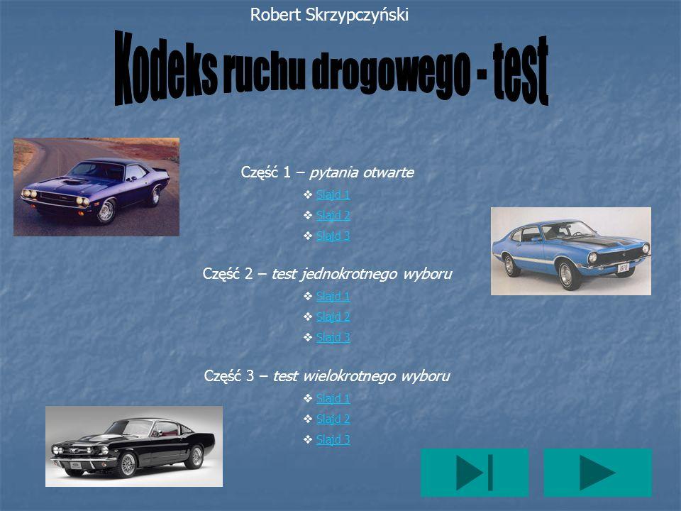 Kodeks ruchu drogowego - test