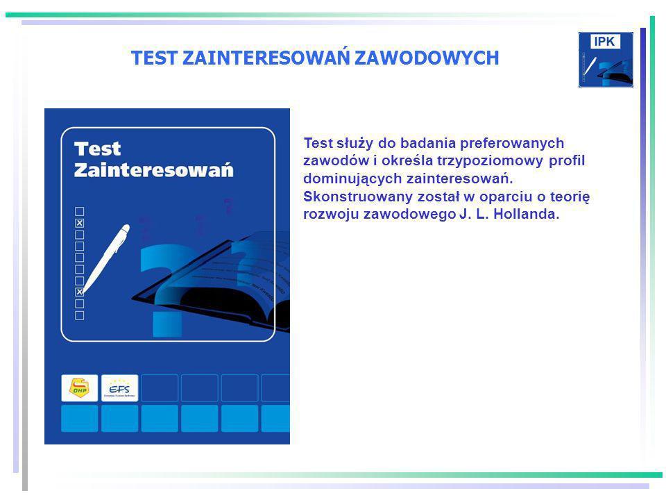 TEST ZAINTERESOWAŃ ZAWODOWYCH