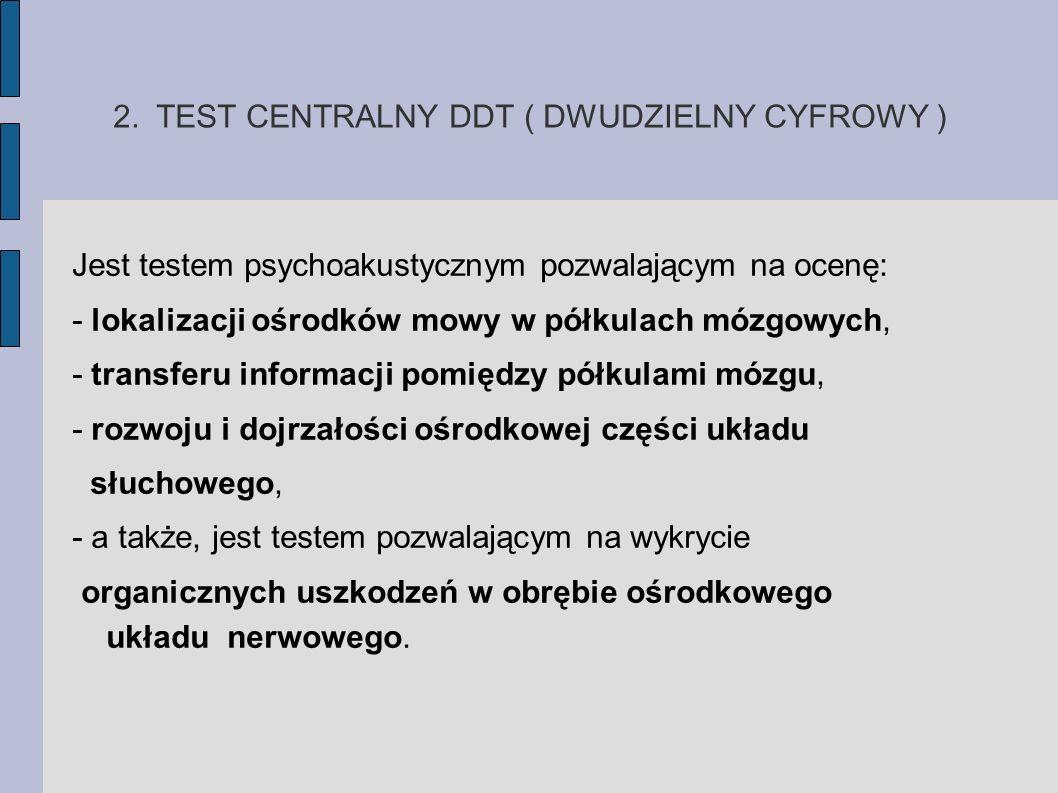 2. TEST CENTRALNY DDT ( DWUDZIELNY CYFROWY )