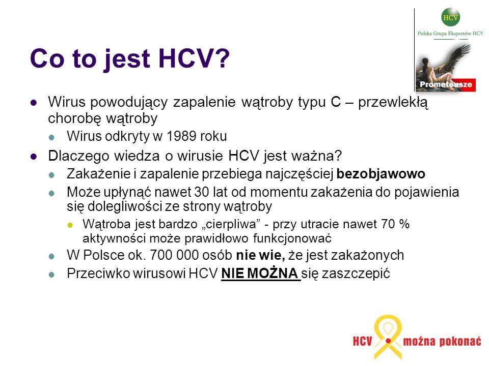 Co to jest HCV Wirus powodujący zapalenie wątroby typu C – przewlekłą chorobę wątroby. Wirus odkryty w 1989 roku.