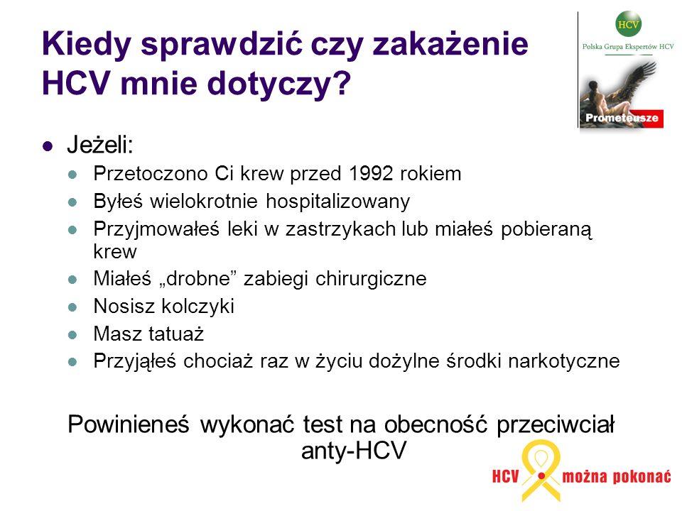 Kiedy sprawdzić czy zakażenie HCV mnie dotyczy