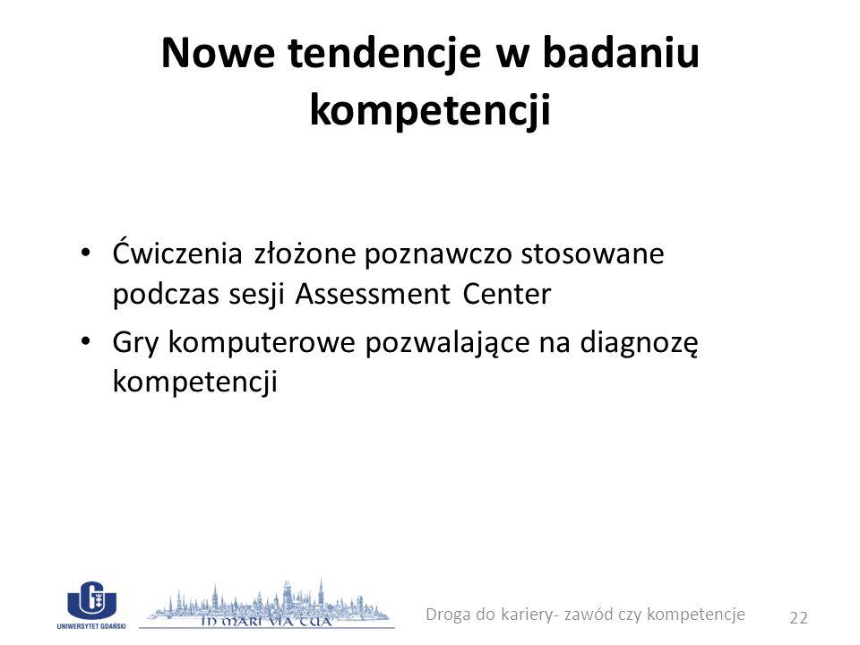 Nowe tendencje w badaniu kompetencji