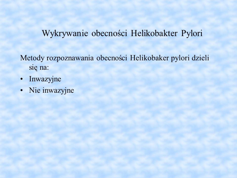 Wykrywanie obecności Helikobakter Pylori