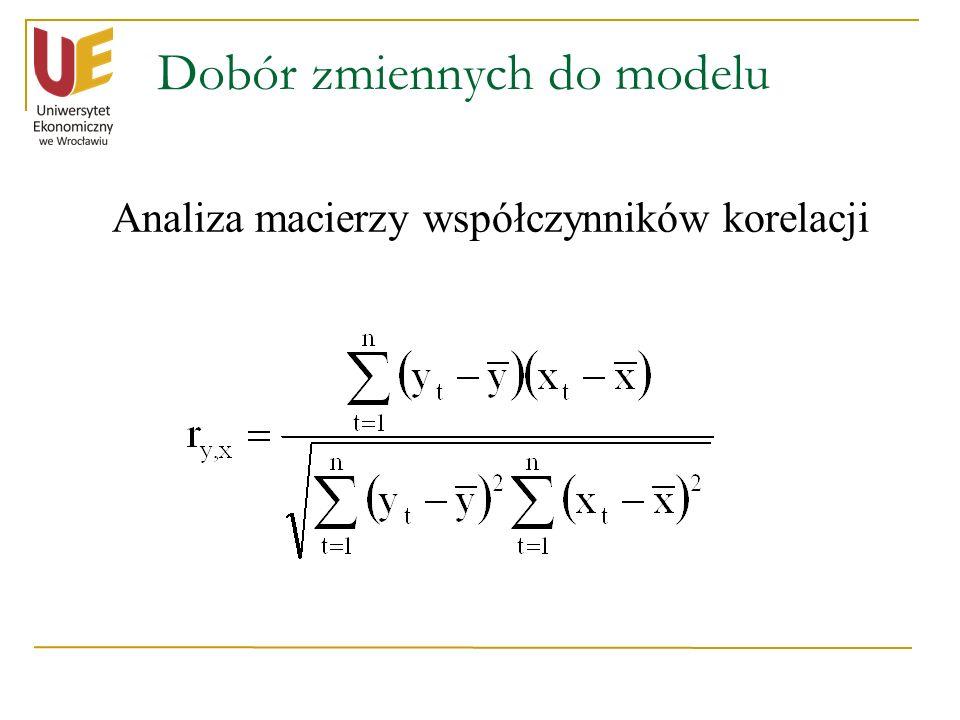 Dobór zmiennych do modelu