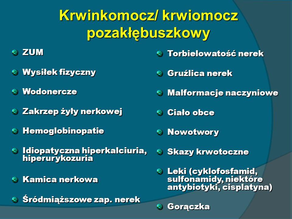 Krwinkomocz/ krwiomocz pozakłębuszkowy