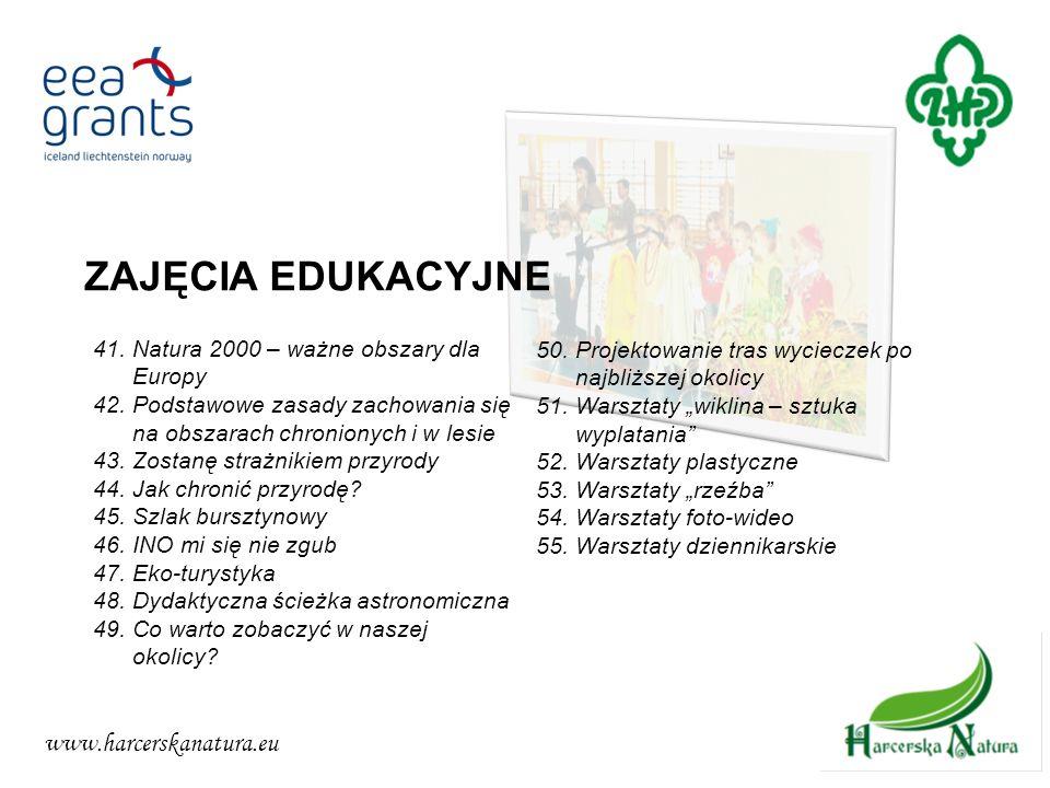 ZAJĘCIA EDUKACYJNE www.harcerskanatura.eu