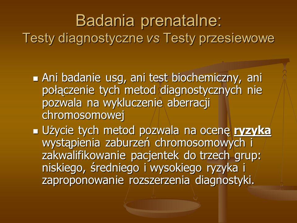 Badania prenatalne: Testy diagnostyczne vs Testy przesiewowe
