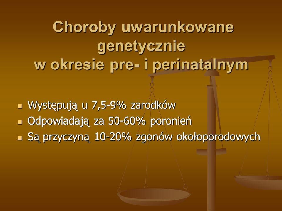 Choroby uwarunkowane genetycznie w okresie pre- i perinatalnym