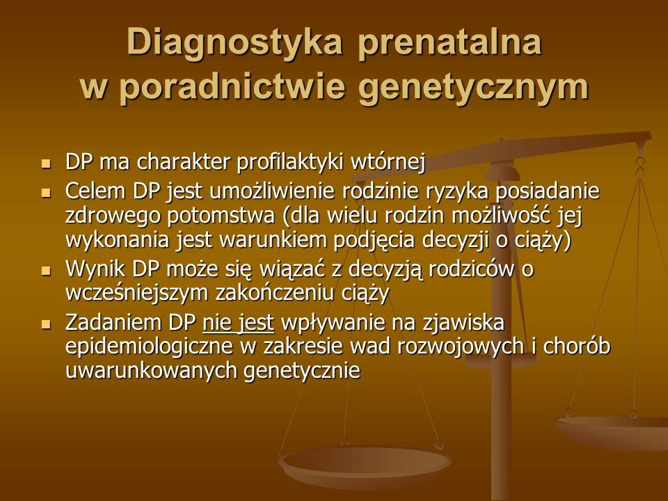 Diagnostyka prenatalna w poradnictwie genetycznym