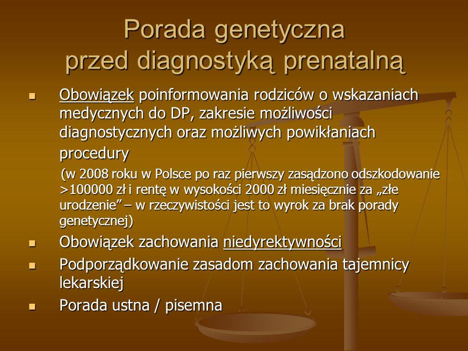 Porada genetyczna przed diagnostyką prenatalną