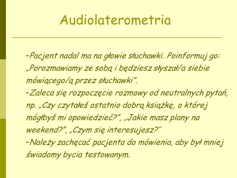 Audiolaterometria