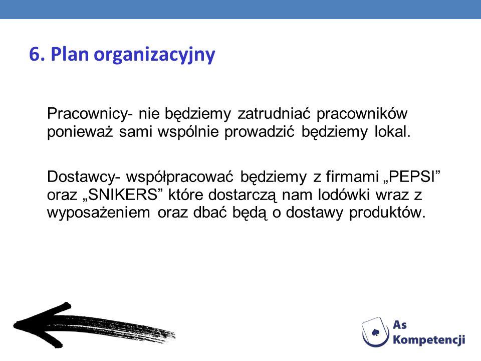 6. Plan organizacyjny