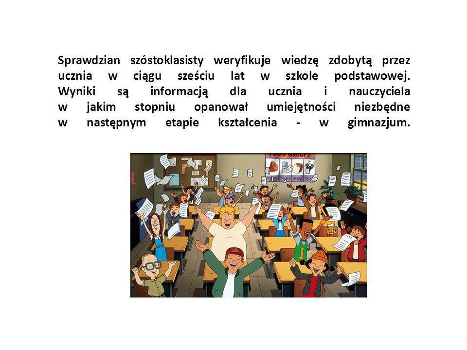 Sprawdzian szóstoklasisty weryfikuje wiedzę zdobytą przez ucznia w ciągu sześciu lat w szkole podstawowej.