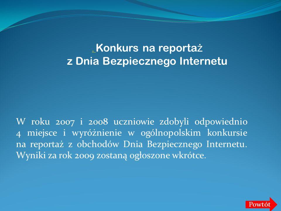 . Konkurs na reportaż z Dnia Bezpiecznego Internetu