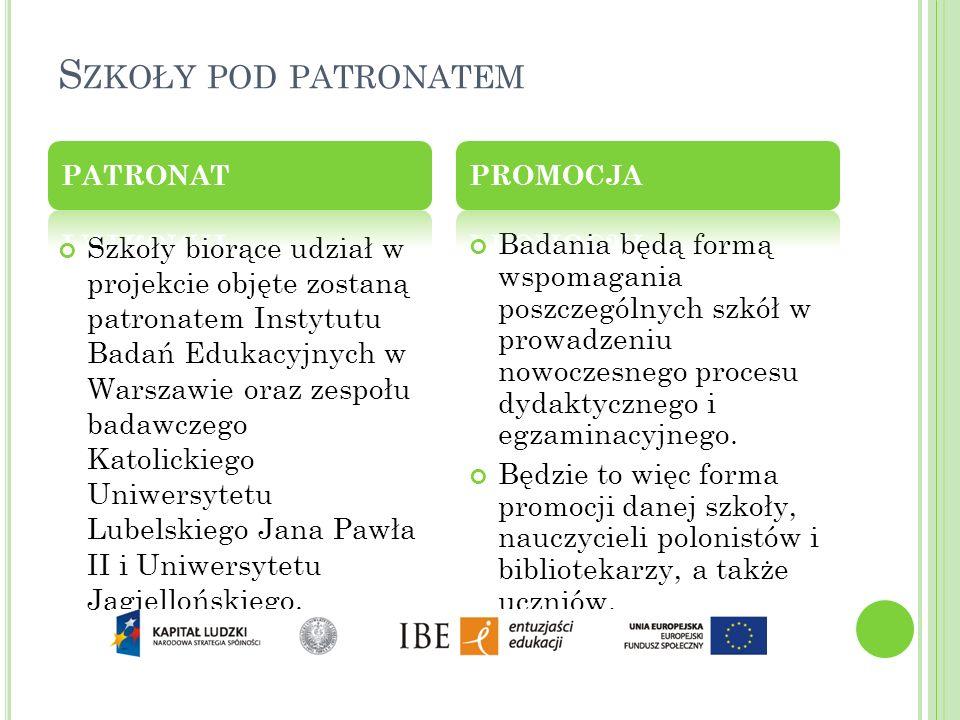 Szkoły pod patronatem PATRONAT. PROMOCJA.