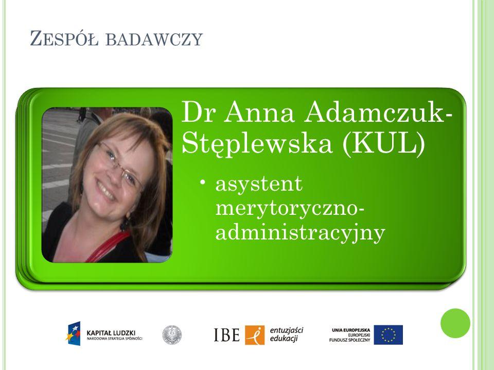 dr Ewa Horwath dr Robert Szwed dr hab. Anna Janus Sitarz (UJ)