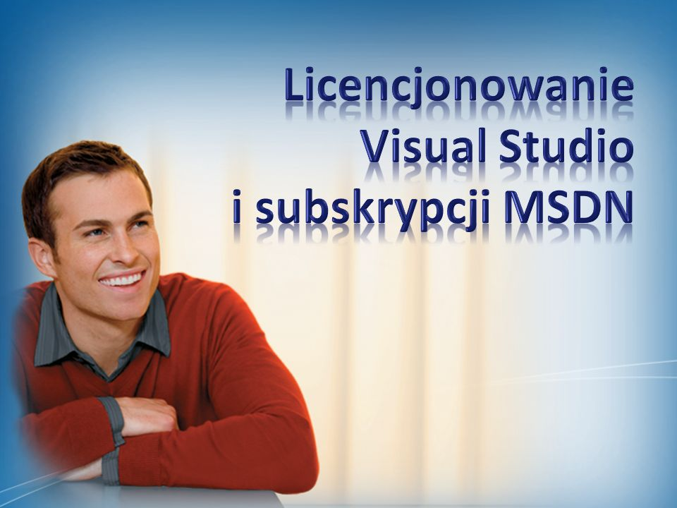 Licencjonowanie Visual Studio i subskrypcji MSDN