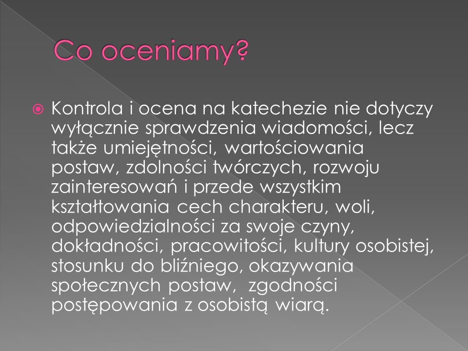 Co oceniamy
