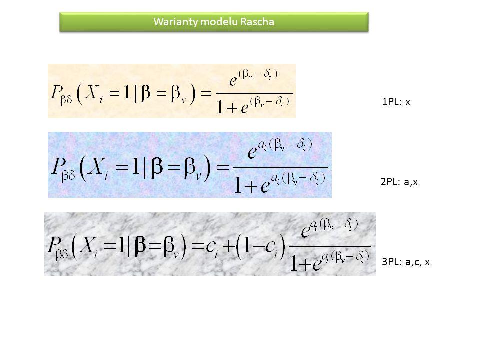 Warianty modelu Rascha