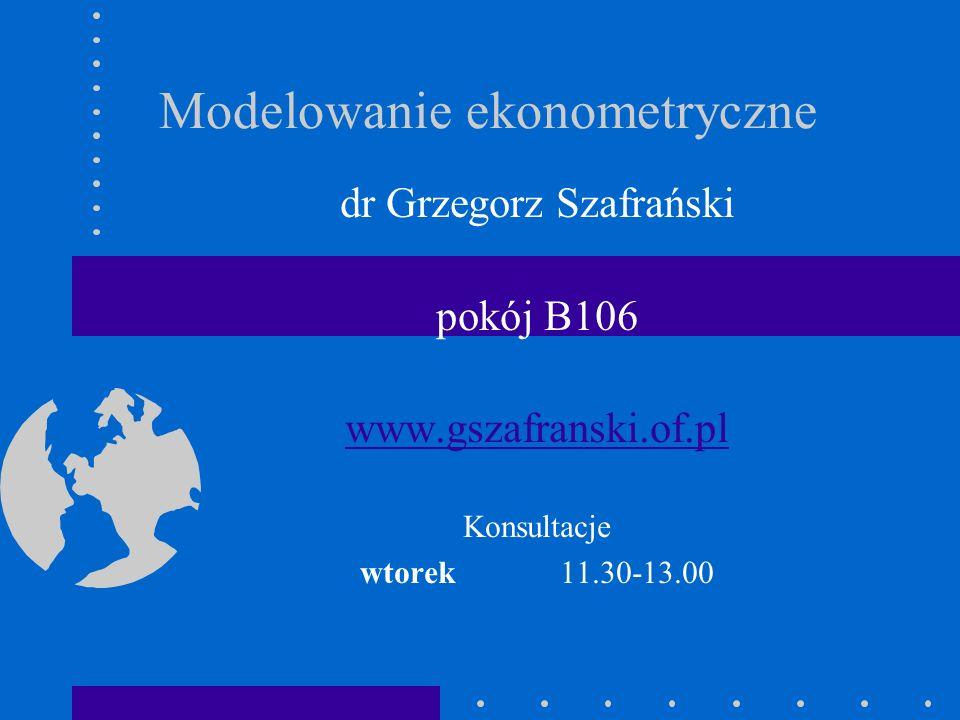Modelowanie ekonometryczne