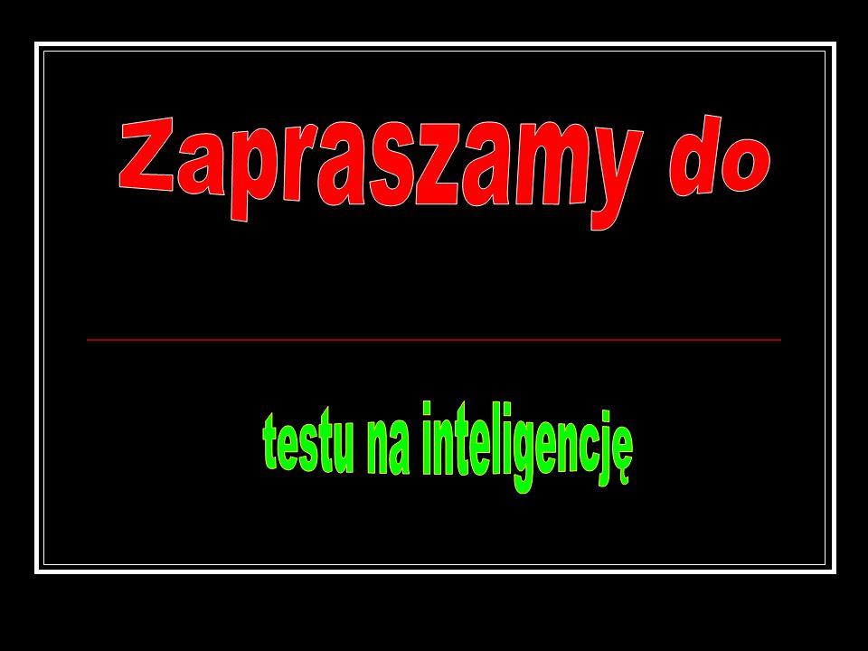 Zapraszamy do testu na inteligencję