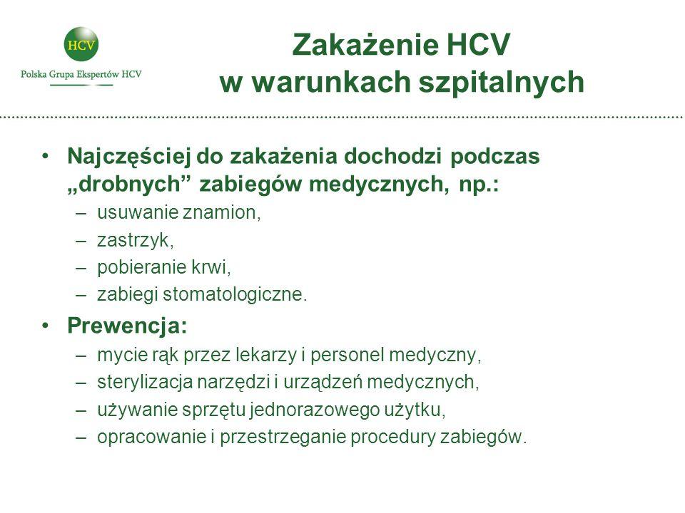 Zakażenie HCV w warunkach szpitalnych