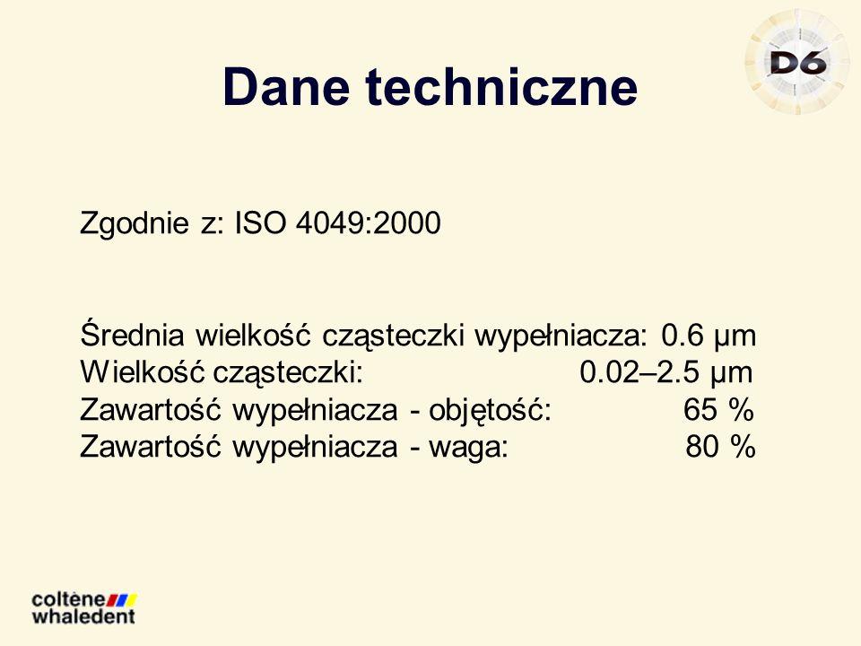 Dane techniczne Zgodnie z: ISO 4049:2000