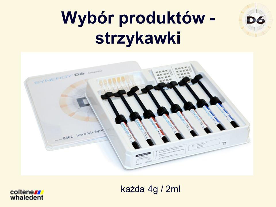 Wybór produktów - strzykawki