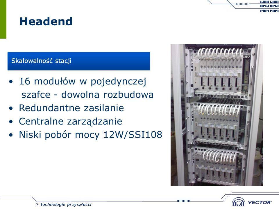 Headend 16 modułów w pojedynczej szafce - dowolna rozbudowa