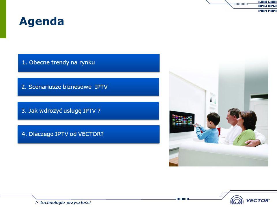 Agenda 1. Obecne trendy na rynku 2. Scenariusze biznesowe IPTV