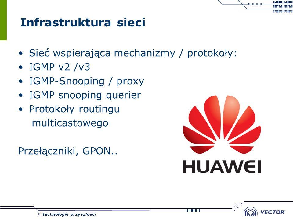 Infrastruktura sieci Sieć wspierająca mechanizmy / protokoły: