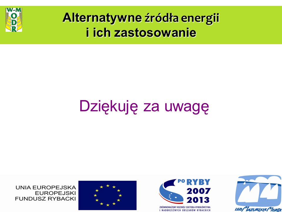 Alternatywne źródła energii i ich zastosowanie