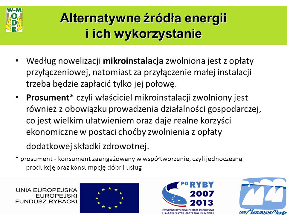 Alternatywne źródła energii i ich wykorzystanie