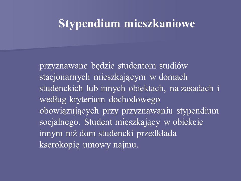 Stypendium mieszkaniowe