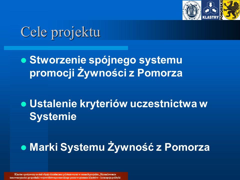 Cele projektu Stworzenie spójnego systemu promocji Żywności z Pomorza