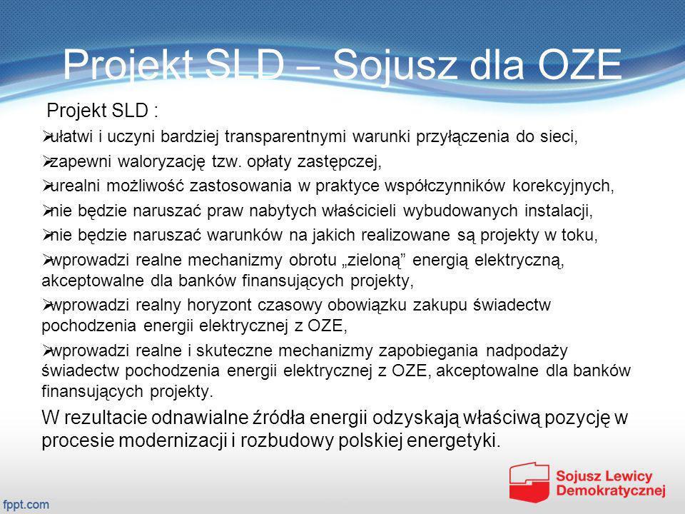Projekt SLD – Sojusz dla OZE