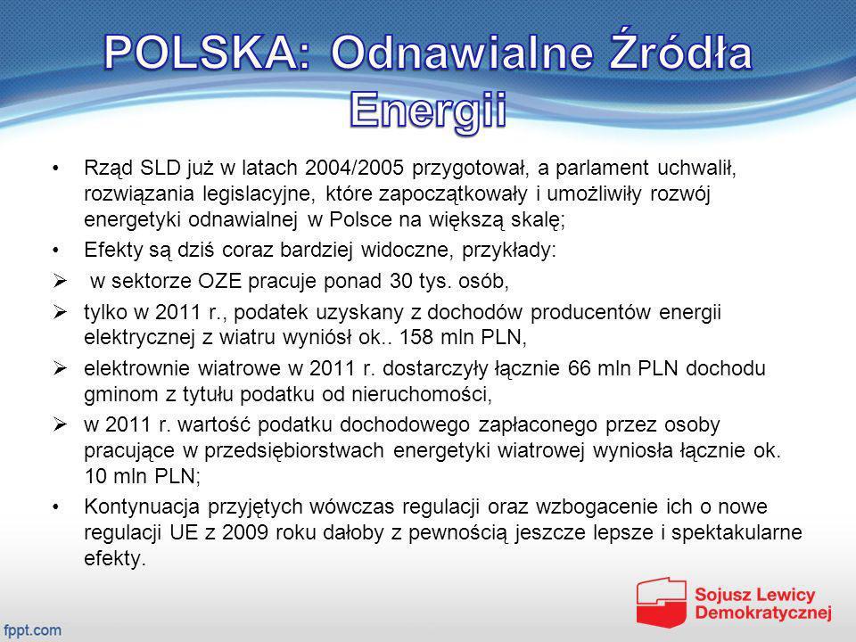 POLSKA: Odnawialne Źródła Energii
