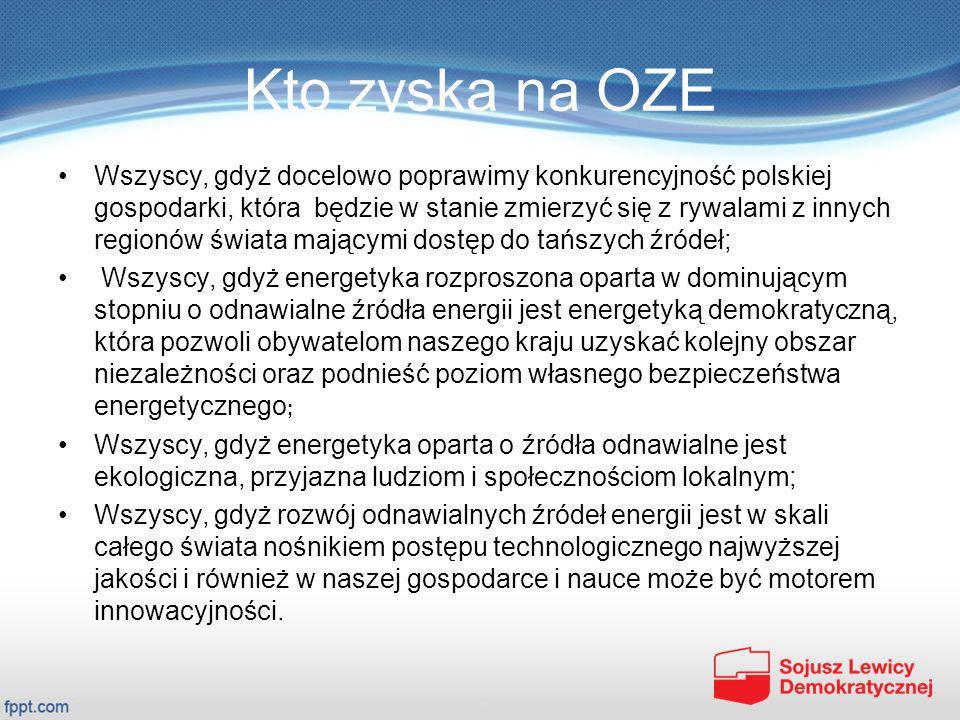 Kto zyska na OZE