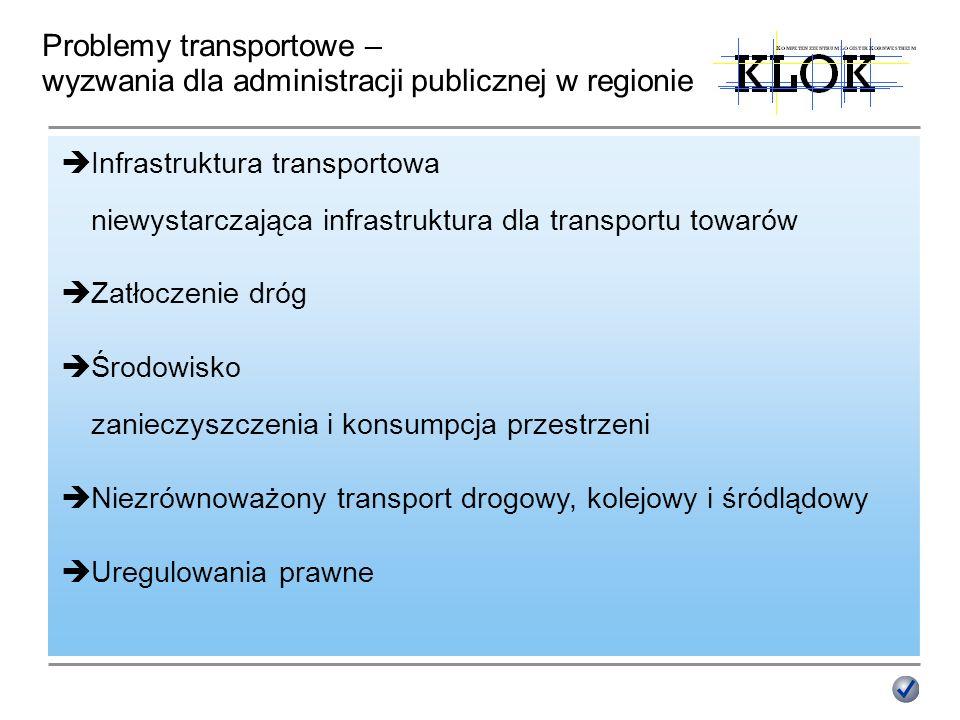 Problemy transportowe – wyzwania dla administracji publicznej w regionie