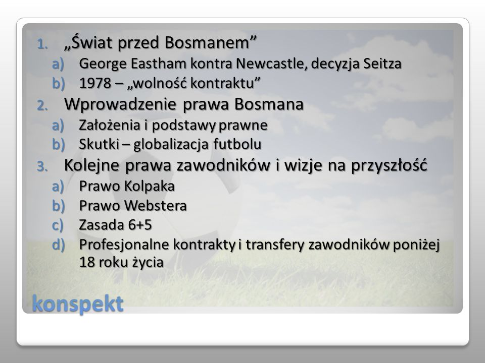 """konspekt """"Świat przed Bosmanem Wprowadzenie prawa Bosmana"""
