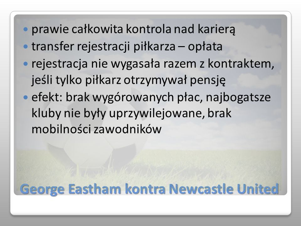 George Eastham kontra Newcastle United