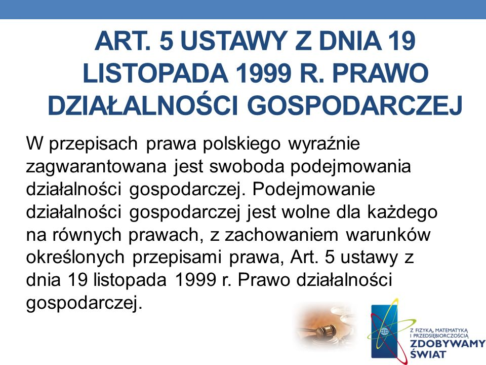 Art. 5 ustawy z dnia 19 listopada 1999 r