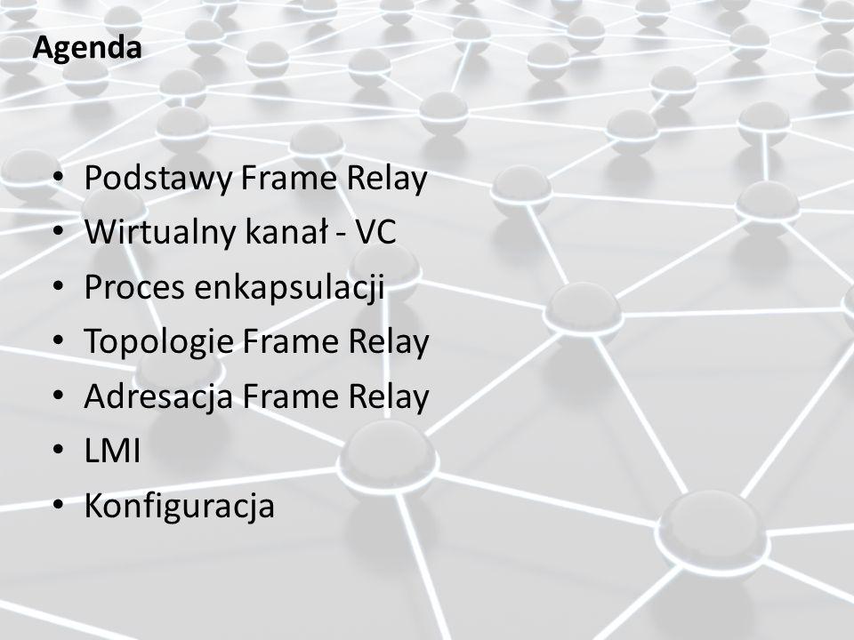 Podstawy Frame Relay Wirtualny kanał - VC Proces enkapsulacji
