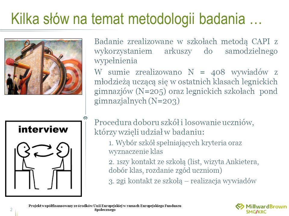 Kilka słów na temat metodologii badania …